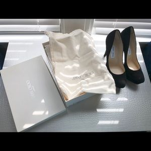 Jimmy Choo pumps/ heels black suede
